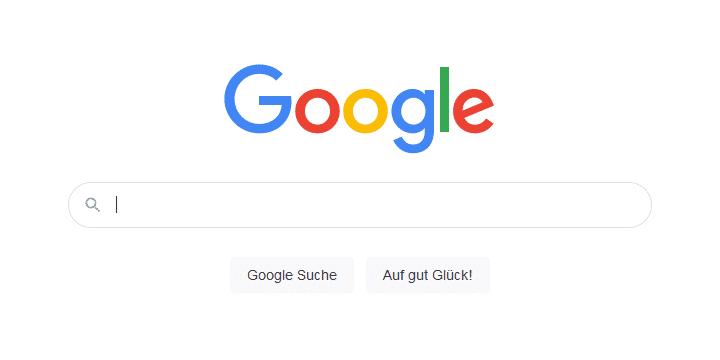 Screenshot der Google Suche